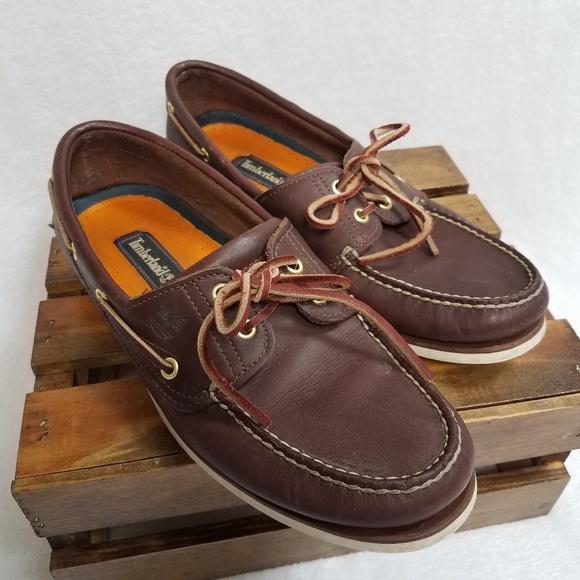 Timberland Classic 2 Eye Boat Shoe dark brown 9.5